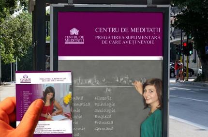 Centru de meditații: afiș și flyer