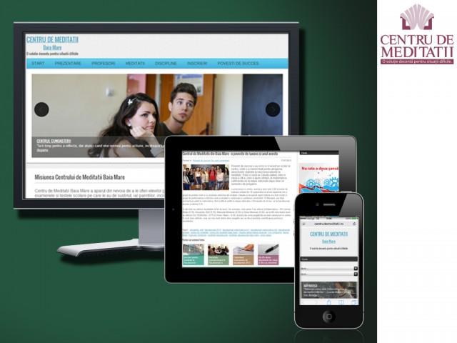 Centru de meditații: site de prezentare